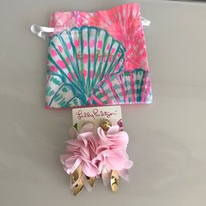 NWT Lilly Pulitzer pink tropics earrings